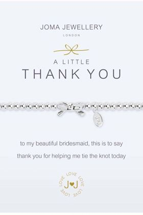 Picture of Joma Jewellery a little Thank You Bridesmaid Bracelet