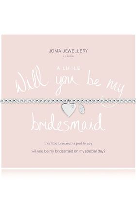 Picture of Joma Jewellery a little will  you be my bridesmaid bracelet