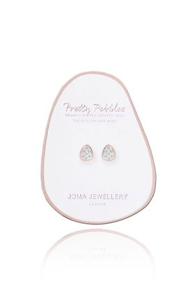 Picture of Joma Jewellery Pave Pebbles Rose Gold Earrings