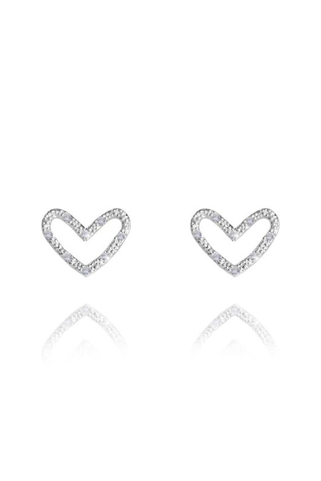 Picture of Joma Jewellery Thea Heart Silver Earrings