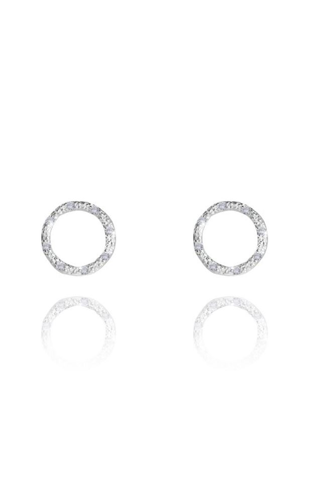 Picture of Joma Jewellery Thea Circle Silver Earrings