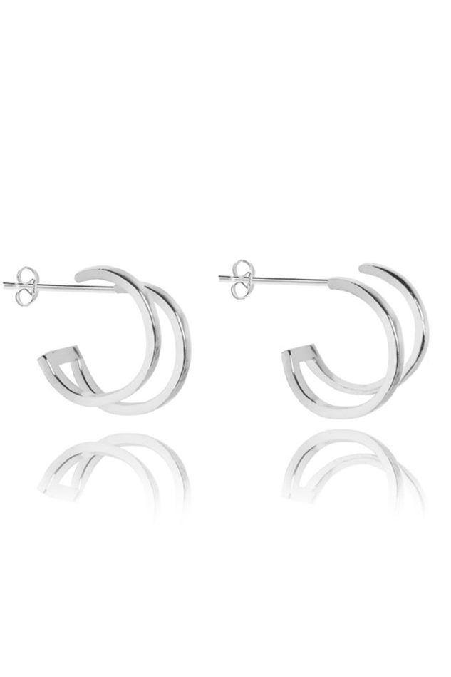 Picture of Joma Jewellery Cassie Silver Double Hoop Earrings