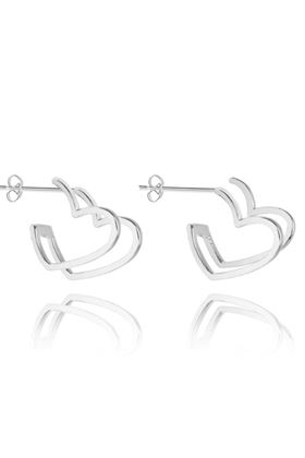 Picture of Joma Jewellery Cassie Double Heart Earrings