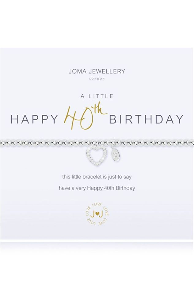 Picture of Joma Jewellery a little Happy 40th Birthday Bracelet