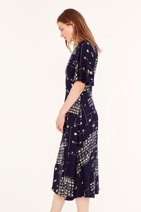 Picture of Emily and Fin Suzanna Blue Star Midi Dress