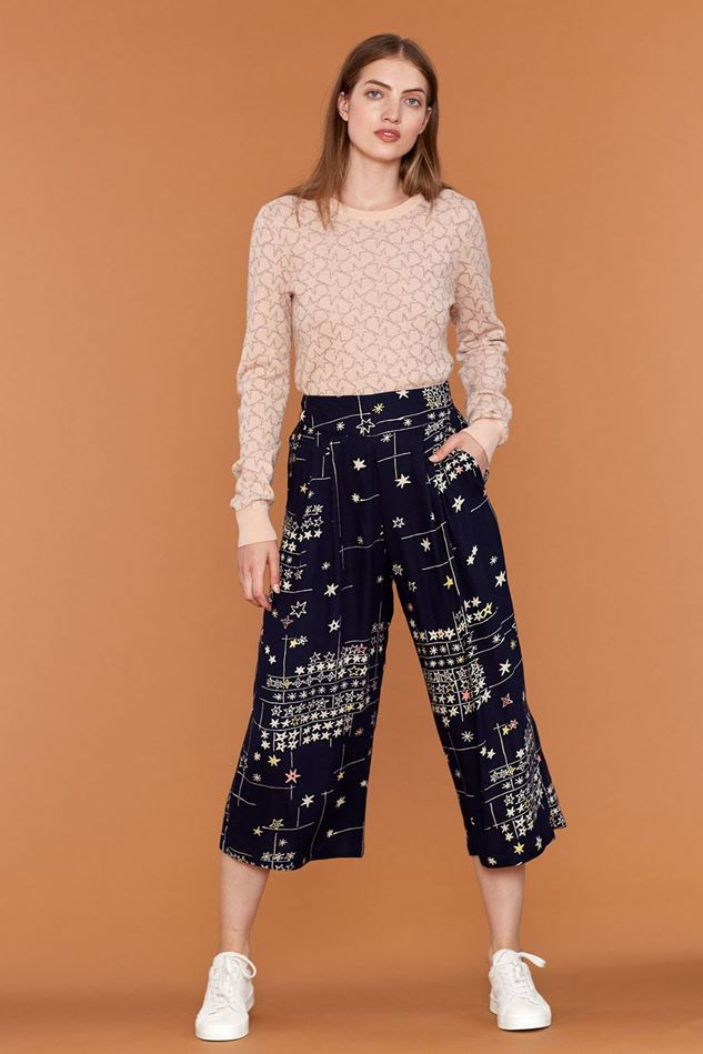 Picture of Emily and Fin Darcy Blue Star Culotte