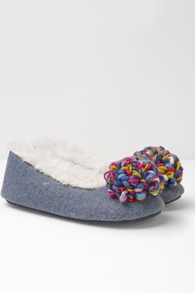 Picture of White Stuff Milly Pom Pom Ballerina Slippers