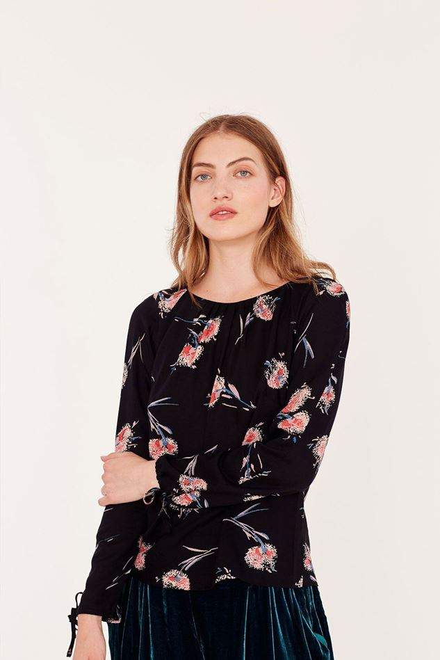 Picture of Emily and Fin Stephy Pom Pom Floral Top