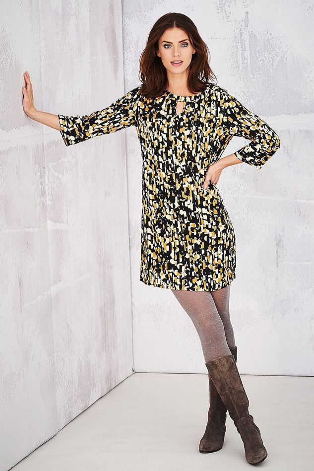 Picture of Adini Carnaby Stripe Print Ganton Tunic Dress