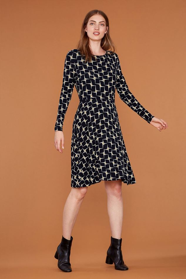 Picture of Emily and Fin Elinor Geo Gold Star Jersey Dress