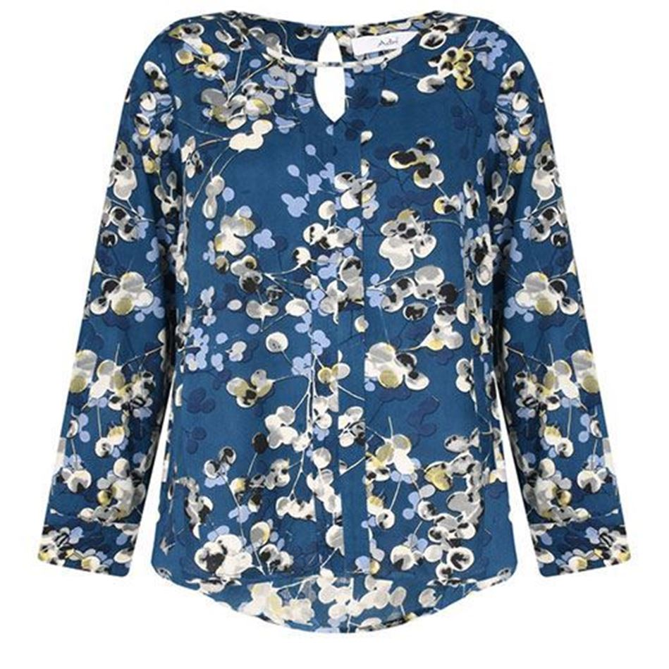 Picture of Adini Adella Blouse Inky Berries Print