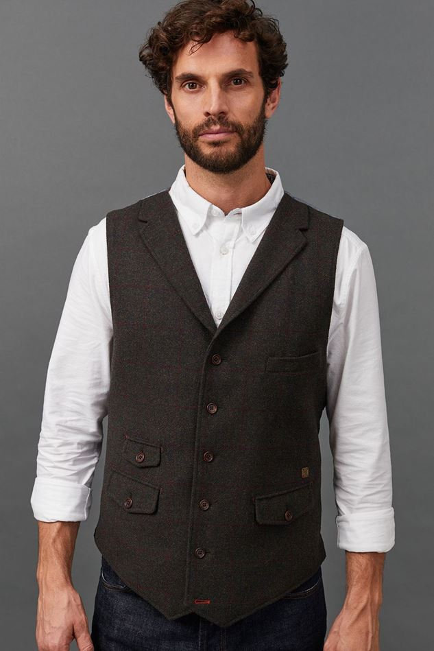 Picture of White Stuff Talus Check Waistcoat