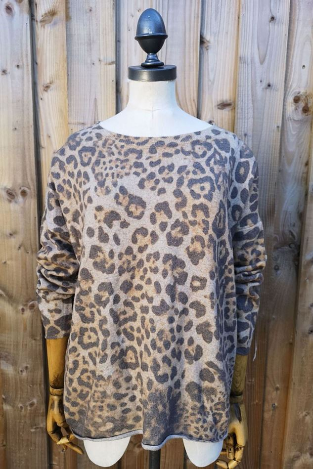 Picture of Luella Cashmere Blend Leopard Print Jumper