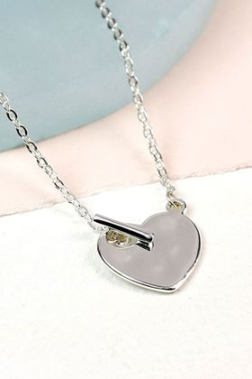 Picture of Pom Silver Plated T Bar Necklace
