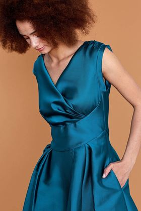 Picture of Emily and Fin Florence Teal Lyon Twill Dress