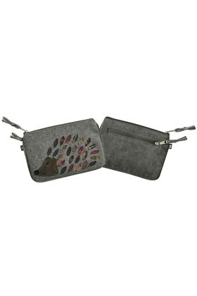 Picture of Earth Squared Hedgehog Animal Applique Juliet Purse