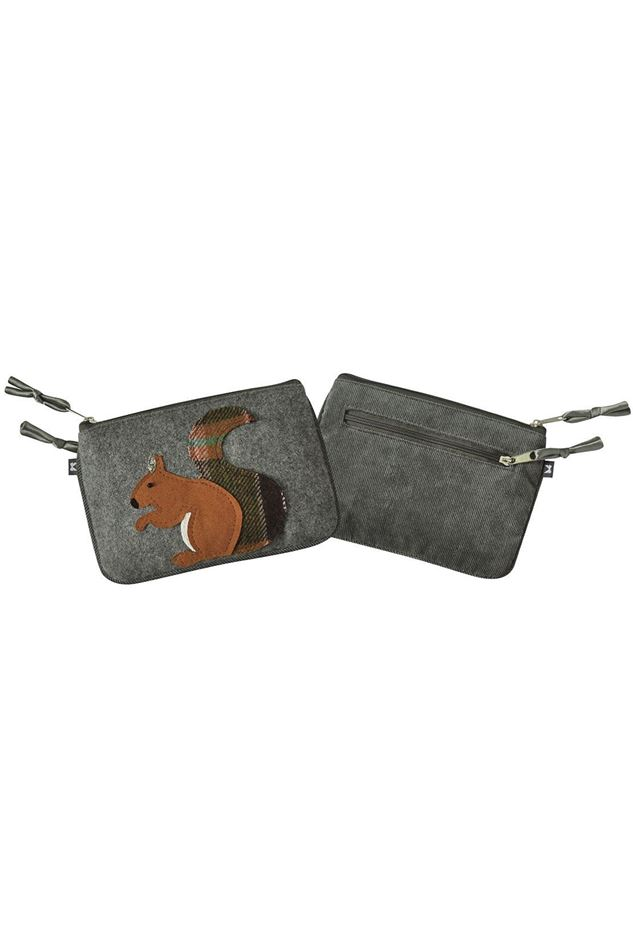 Picture of Earth Squared Squirrel Animal Applique Juliet Purse