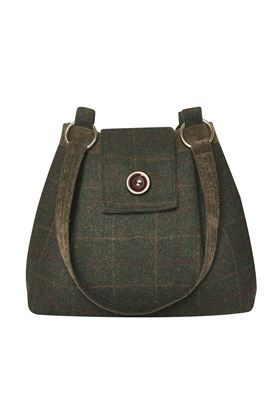 Picture of Earth Squared Green Tweed Ava Bag