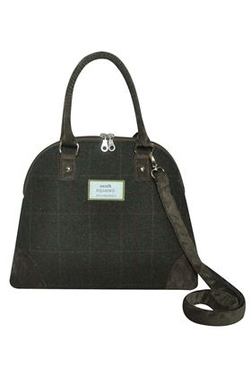 Picture of Earth Squared Green Tweed Phoebe Bag
