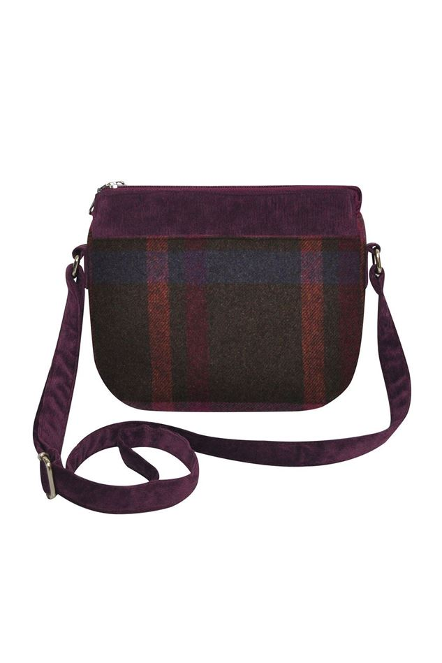Picture of Earth Squared Mulberry Tweed Messenger Bag