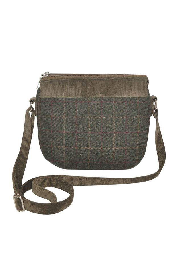 Picture of Earth Squared Green Tweed Messenger Bag