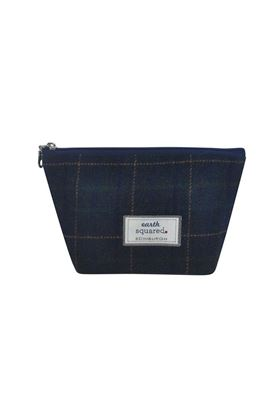 Picture of Earth Squared Navy Tweed Make Up Bag