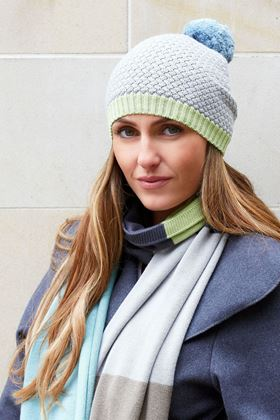 Picture of Earth Squared Grey Green Knitted Scarf