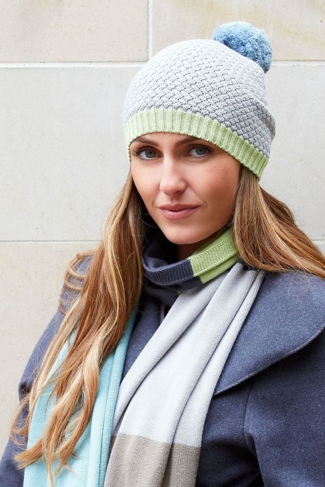 Picture of Earth Squared Grey Green Knitted Hat