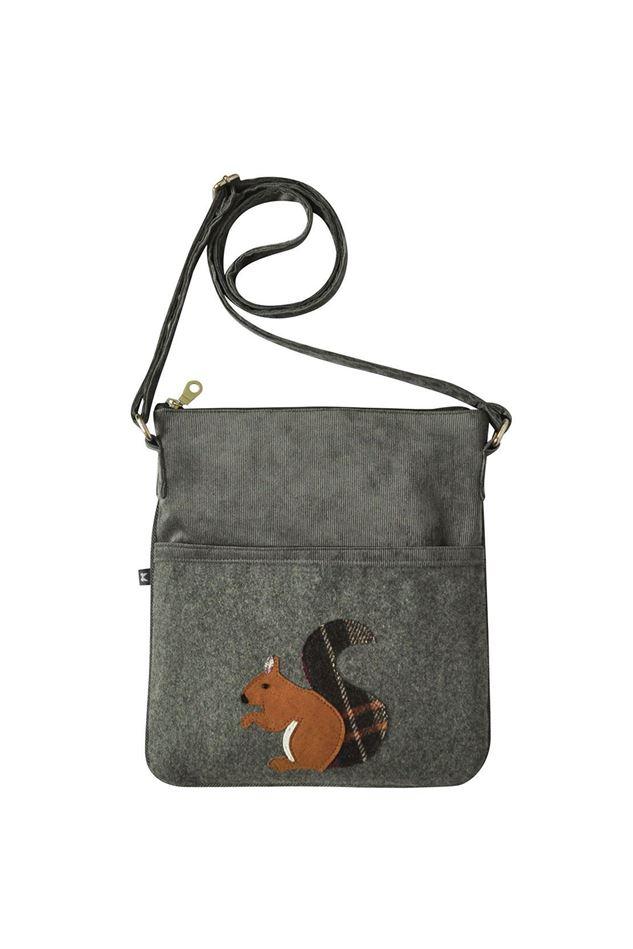 Picture of Earth Squared Squirrel Animal Applique Block Bag