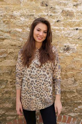 Picture of Luella Cashmere Blend Leopard Print Jumper