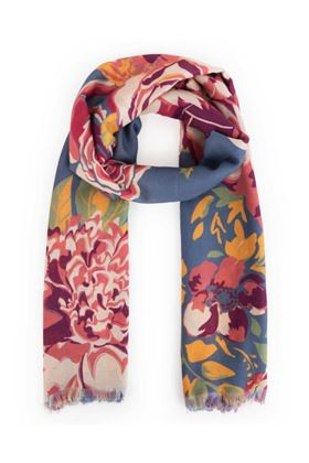 Picture of Powder Winter Floral Scarf