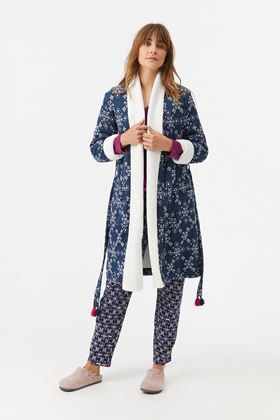 Picture of White Stuff Starry Hearts Fluffy Robe