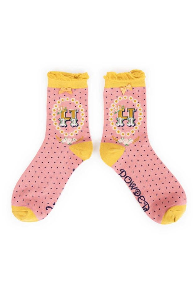 Picture of Powder A-Z Ankle Socks - H
