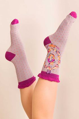 Picture of Powder A-Z Ankle Socks - Q