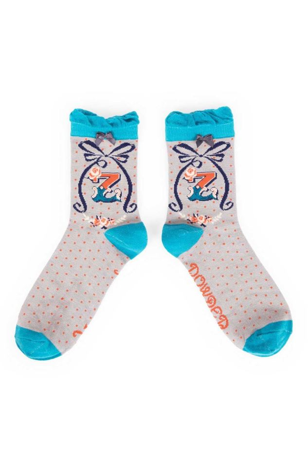 Picture of Powder A-Z Ankle Socks - Z