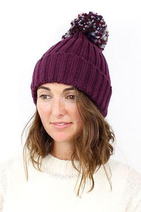 Picture of Pom Deep Plum Pom Pom Hat