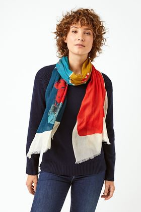 Picture of White Stuff Forest Colour Block Scarf