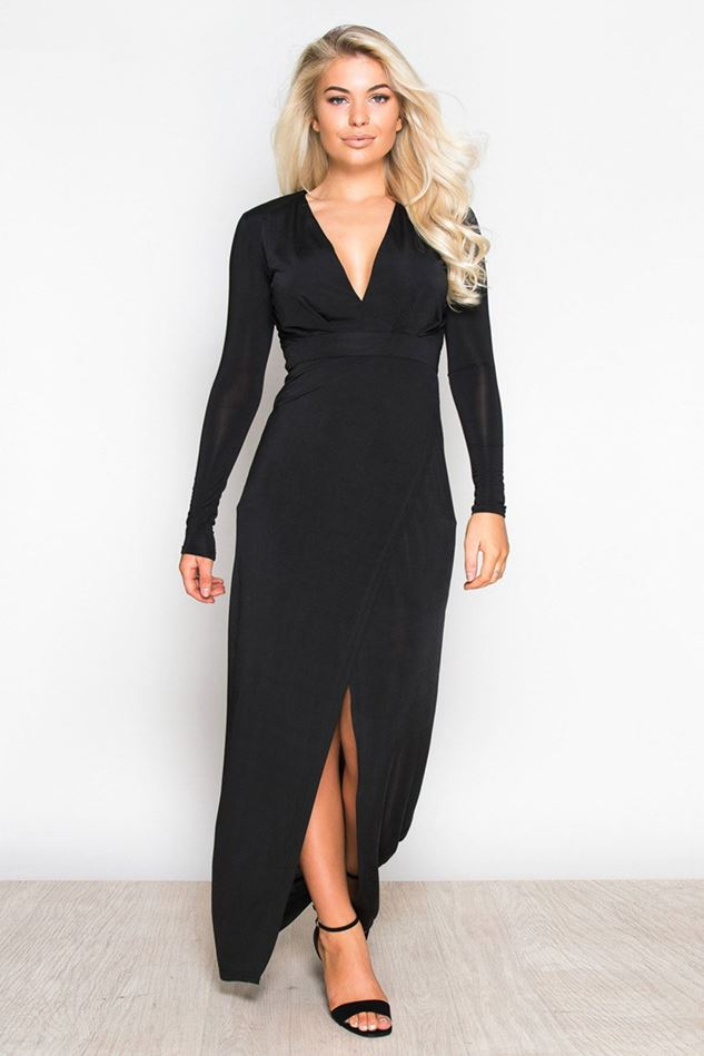 Picture of Girl in Mind Saskia Plunge Maxi Dress