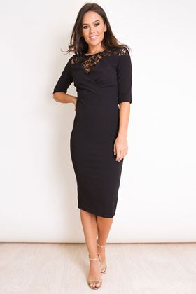 Picture of Girl in Mind Charlotte Lace Top Midi Dress