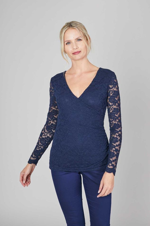 Picture of Lily & Me  Oak Tree  Embroidered Lace Top