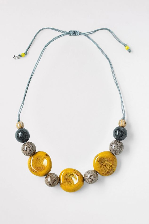 Picture of White Stuff Speckled Ceramic Bead Necklace