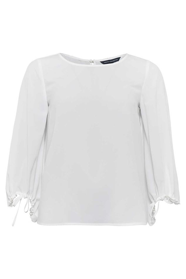 Picture of French Connection Crepe Puff Sleeve Blouse