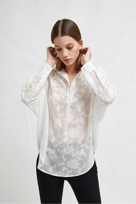 Picture of French Connection Clarita Fill Coupe Pop Over Shirt