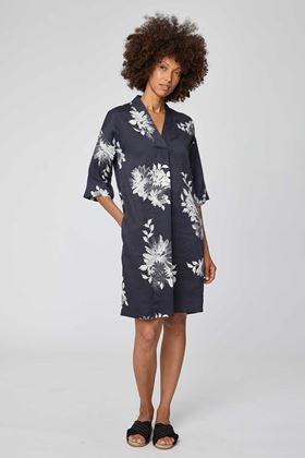 Picture of Thought Patrice Black Floral Print Dress