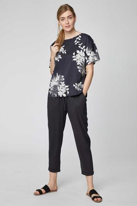 Picture of Thought Patrice Black Floral Print Top