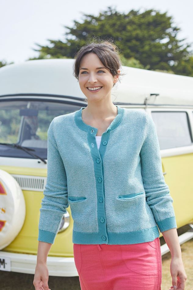 Picture of Lily and Me Two Tone knit Cardigan