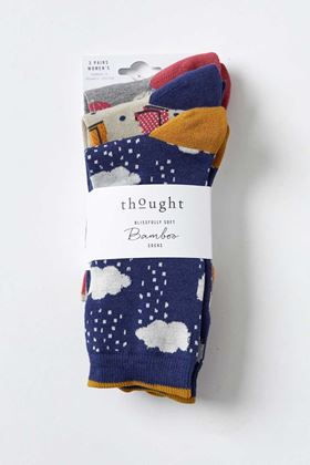 Picture of Thought Rainy Days Ethical Socks Pack