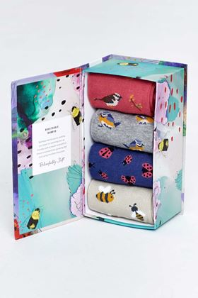 Picture of Thought Spring Meadow Sustainable Socks Box