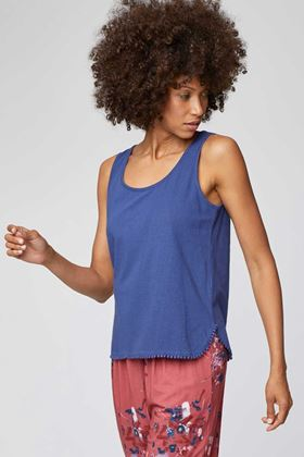 Picture of Thought Florianne Pom Pom Trim Vest Top