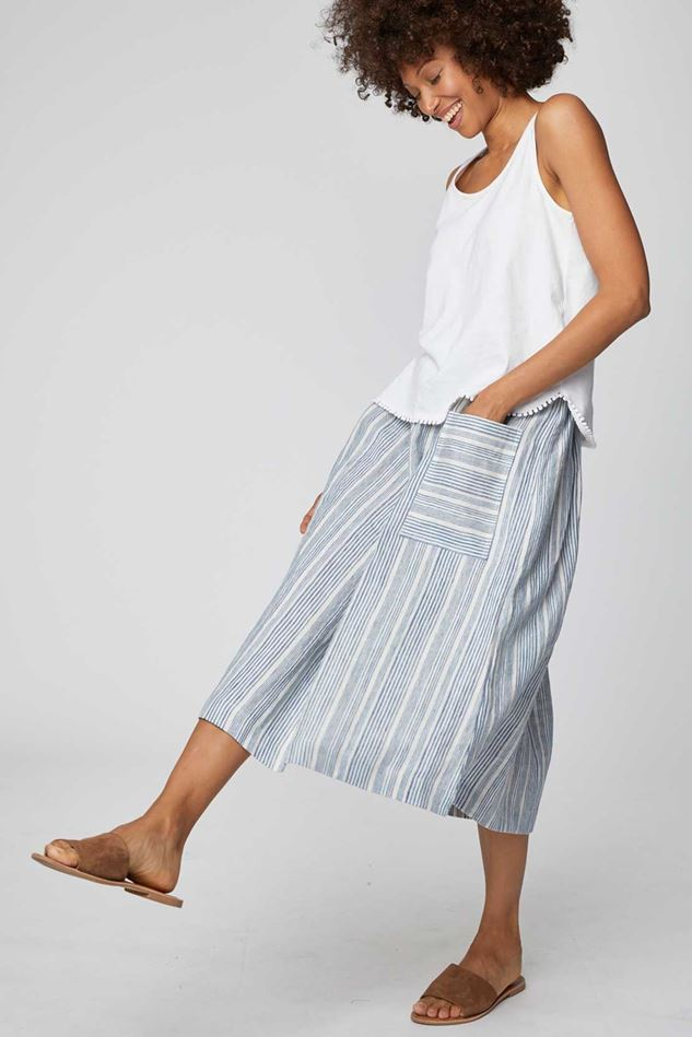 Picture of Thought Luis Stripe Midi Skirt
